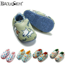 Girls Baby Toddler Kids Anti-slip Crawling First Walker Crib Shoes Slipper Boots