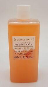 SUNDAY RAIN Bubble Bath 450ml Mango & Coconut NWOB #4321