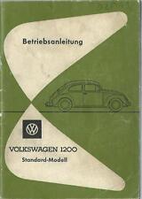 VW KÄFER 1200 LIMOUSINE 1962 Betriebsanleitung Bedienungsanleitung Handbuch BA