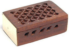Amber Incense Resin Box - Rosewood Box for Amber Resin Incense Chunks NEW {:-)