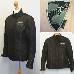 NITRO N-72 REBECCA WOMENS TEXTILE MOTORCYCLE JACKET SIZE 14 42 L SHOK BLOK