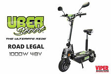 UberScoot 1000W 48V Electric Scooter New 2018 Road Legal Scooter, ViperScooters