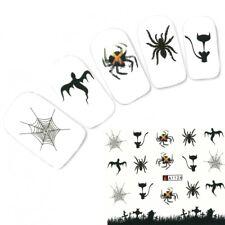Tattoo Nail Halloween Totenköpfe Fledermaus Aufkleber Nagel Sticker