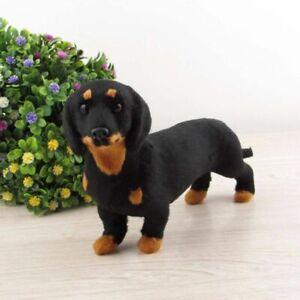 Realistic Dachshund Simulation Toy Dog Puppy Lifelike Stuffed Toy Handcrafted