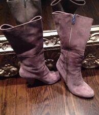 Belle By Sigerson Morrison Designer Gray Suede Boots Size 10