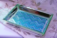 Portofino Mirrored Glass Jewellery Tray Excellent Quality NEW AND BOXED