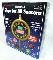 Mr Christmas Animated Sign for all Seasons Indoor Outdoor Halloween Thanksgiving