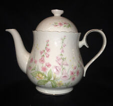 ROYAL ALBERT PARKLAND TEAPOT 40 OZ PINK FLOWERS FOR ALL SEASONS GOLD TRIM