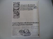 advertising Pubblicità 1968 OLIO CUORE