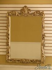 30083Ec: French Louis Xv Style Silver Decorated Wood Framed Mirror