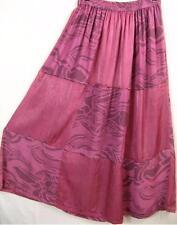 Sk195~Tienda Ho~FUCHSIA~Patchwork~FESTIVAL~Rayon~TRIBAL~Maxi Skirt~OS~1X?