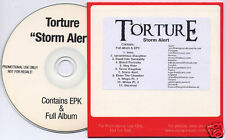 TORTURE Storm Alert 2006 UK enhanced promo test press CD inc EPK
