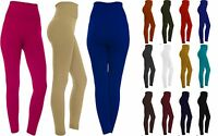 Women's Fleece Lined Solid Colors Winter Thick Warm High Waist Stretchy Leggings