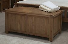 Brooklyn solid oak bedroom furniture blanket storage box chest trunk