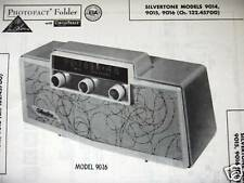 SILVERTONE 9014, 9015, & 9016 TRANSISTOR RADIO PHOTOFACT