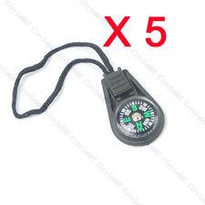 5 X Zipper Pull Mini Compass Backpack Bag Strap Camping