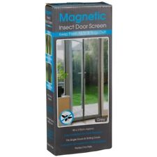 Grey Magnetic Door Screen Easy installation Keep Fresh Air & Bugs & Insect Out