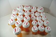 Prescription Bottle Pharmacy MIXED Lot Of 26 Empty Amber Plastic w/lids