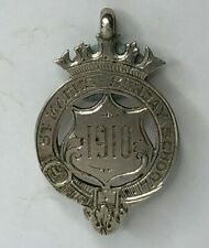 More details for 1910 solid silver fob st marks sunday school  fob medal chester hallmark