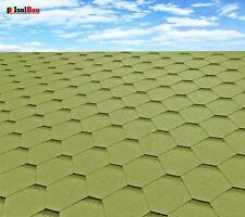Dachschindeln Hexagonal Dreieck Form 3m?  Grün (22 Stk) Schindeln Dachpappe