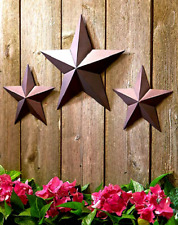 Outdoor Metal Wall Art Rustic Country Star Decor Front Yard Fence Set of 3