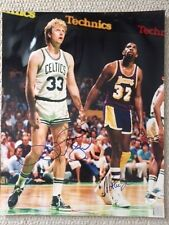 LARRY BIRD+MAGIC JOHNSON SIGNED 16x20 COLOR PHOTO     RARE    NBA LEGENDS    JSA