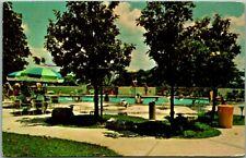Kingston, Oklahoma Postcard LAKE TEXOMA LODGE Swimming Pool Scene / 1975 Cancel