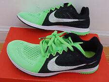 NEW inbox Nike Streak LT3 racing flats running shoes men 8=women 9.5 green/black