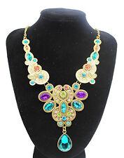 Fashion Charm Pendant Chain Crystal Jewelry Choker Chunky Statement Bib Necklace Style 11