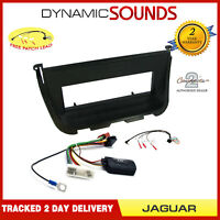 CD Stereo Fitting Kit, Fascia, Steering Control Adaptor For Jaguar XJ8 1998-2002