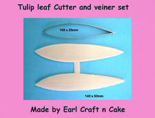 Tulip Leaf Cutter & Veiner Cake Decorating Sugar Flower Gum Paste Tools