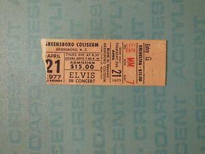 Elvis Presley concert ticket stub, April 1977, Greensboro NC Coliseum