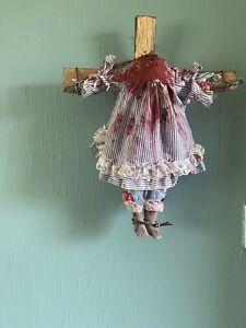 ooak gothic Scary horror Zombie Headless Doll On Cross