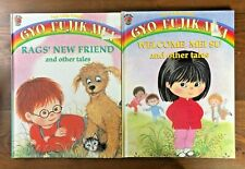 Gyo Fujikawa FOUR LITTLE FRIENDS Lot 2 HB Rags' New Friend Welcome Mei Su VGC