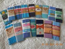 16 UNUSED QUALITY Vintage Hem Facing Bias Tape Seam Binding New Old Stock