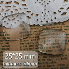 50Pcs 25*25MM Clear Square Flat Back Crystal Glass Dome Cabochons C4640