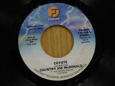 Country Joe McDonald DJ 45 Coyote stereo / mono - Fantasy VG+
