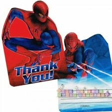 AMAZING SPIDER-MAN THANK YOU NOTES (8) ~ Birthday Party Supplies Stationery Card
