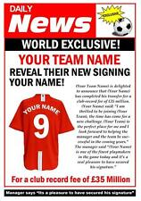 PERSONALISED FOOTBALL NEW SIGNING ANY TEAM BIRTHDAY CARD