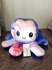 Oktopus Plüschtier doppelseitiges Flip 30 cm Farbe Himmel Farbverlauf