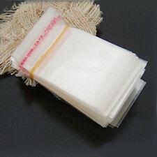 Lots 100Pcs Self Adhesive Cellophane Resealable Plastic Packaging Bags 14x8cm