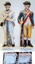 """Andrea by Sadek Revolutionary Soldier Lot of Two 8"""" Porcelain Statues"""
