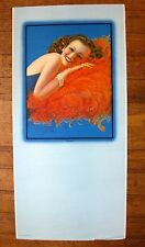 Authentic 1940s Pin Up Girl Picture Calendar Billy DeVorss Coquette Brunette B
