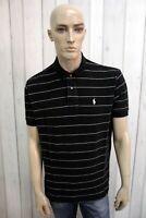 RALPH LAUREN Uomo Polo Taglia L Cotone T-Shirt Casual Maglietta Manica Corta