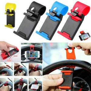 Universal Car Steering Wheel Cradle Stand Cell Phone Mount Holder Clip for GPS