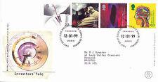 12 GENNAIO 1999 inventori racconto ROYAL MAIL FIRST DAY COVER Bureau SHS (G)