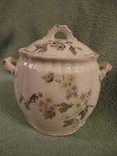 Hawthorn T Furnival & Sons Cracker Jar Porcelain Transfer Ware Victorian Vintage
