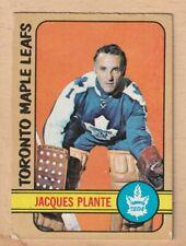 HOCKEY CARD NHL 1972-73 JACQUES PLANTE TORONTO MAPLE LEAFS  #92