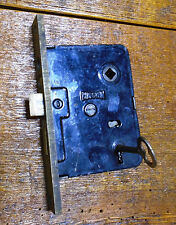 VINTAGE RUSSWIN  ENTRY MORTISE LOCK w/KEY - PUSH BUTTONS -  WORKS GREAT (7212)