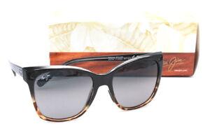 Maui Jim Alekona GS793-02T Black Womens Sunglasses Polarized Neutral Gray Lenses